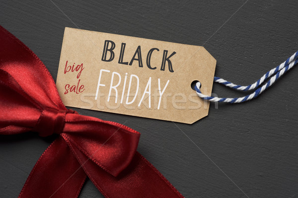 text black friday big sale in a paper label Stock photo © nito