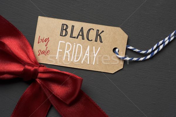 текста черная пятница большой продажи бумаги Label Сток-фото © nito