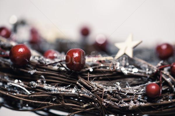 nice christmas wreath Stock photo © nito
