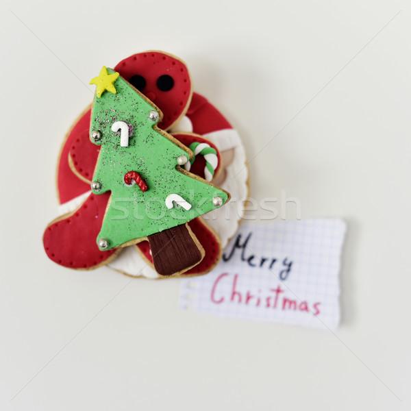 Navidad galletas texto alegre tiro Foto stock © nito