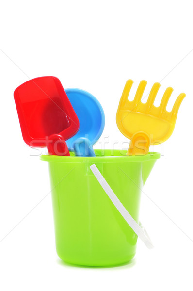 sand / beach toy set: pail, shovel and rake Stock photo © nito