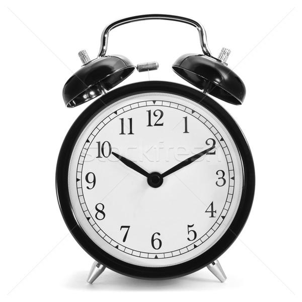 Mecânico despertador típico branco fundo anel Foto stock © nito