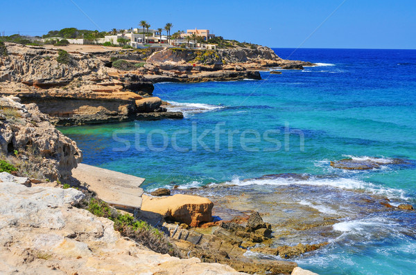 coast of Sant Josep, in the South-West of Ibiza Island, Spain Stock photo © nito