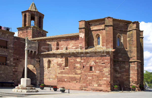 Santa Maria church in Prades, Spain Stock photo © nito