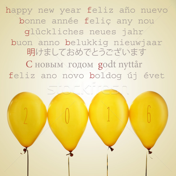 Ballons nombre 2016 texte happy new year différent Photo stock © nito