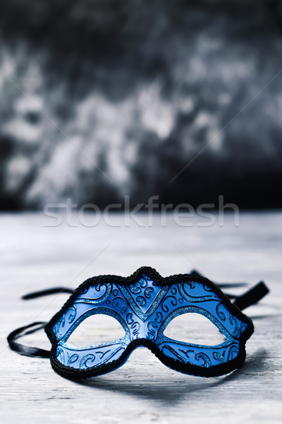 elegant blue carnival mask Stock photo © nito