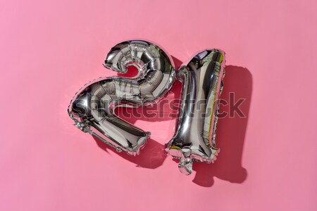 number 21 and text I love you in a balloon Stock photo © nito