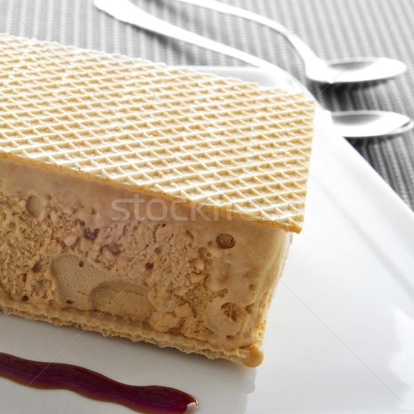 typical spanish helado al corte or corte de helado, ice cream sa Stock photo © nito