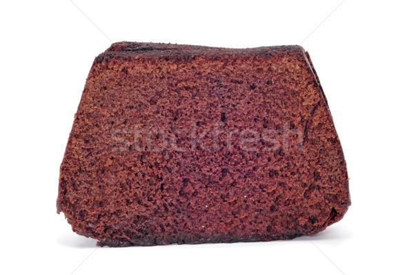 Csokoládé piskóta szeletek fehér háttér torta Stock fotó © nito