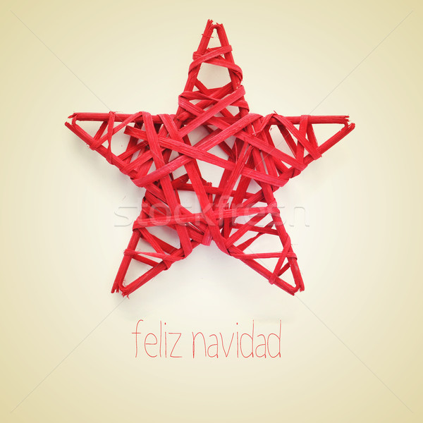 feliz navidad, merry christmas in spanish Stock photo © nito