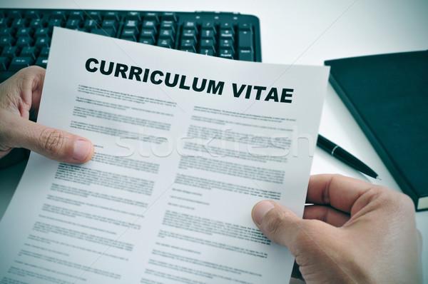 curriculum vitae Stock photo © nito