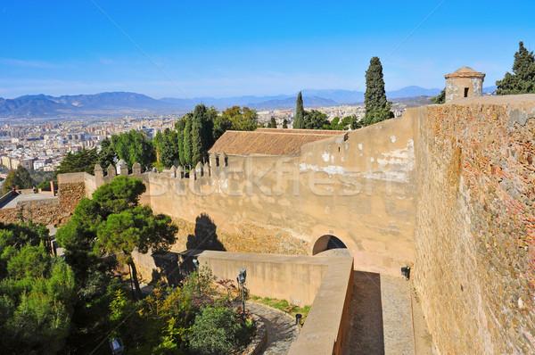 замок малага Испания мнение небе пейзаж Сток-фото © nito
