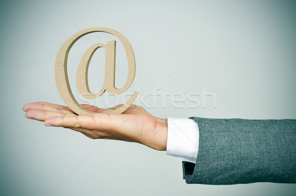 businessman with an at sign Stock photo © nito