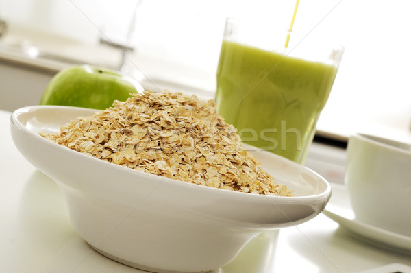 oatmeal cereal, apple and smoothie Stock photo © nito