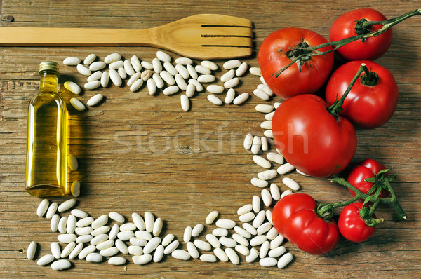 olive oil, white beans and tomatoes Stock photo © nito