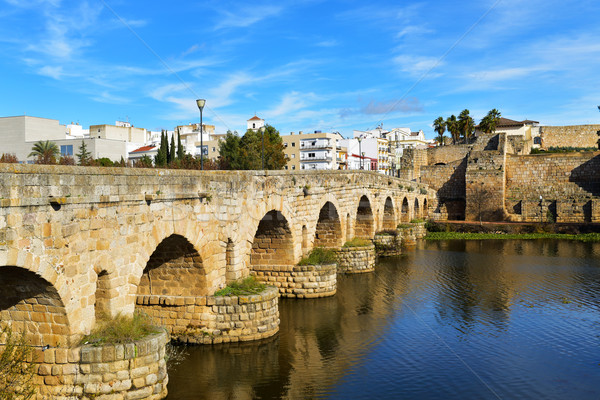 Puente Romano bridge in Merida, Spain Stock photo © nito
