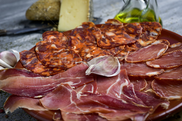 assortment of spanish cold meats Stock photo © nito