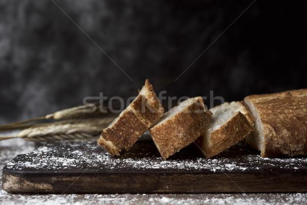 パン 典型的な クローズアップ ローフ スライス 素朴な ストックフォト © nito