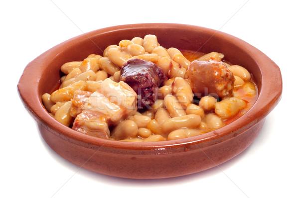 fabada asturiana, typical spanish bean stew Stock photo © nito
