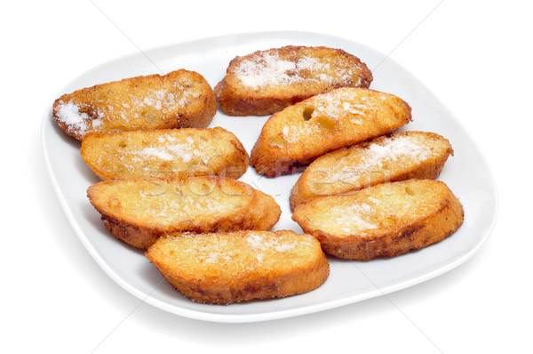 torrijas, typical spanish dessert for Lent and Easter Stock photo © nito
