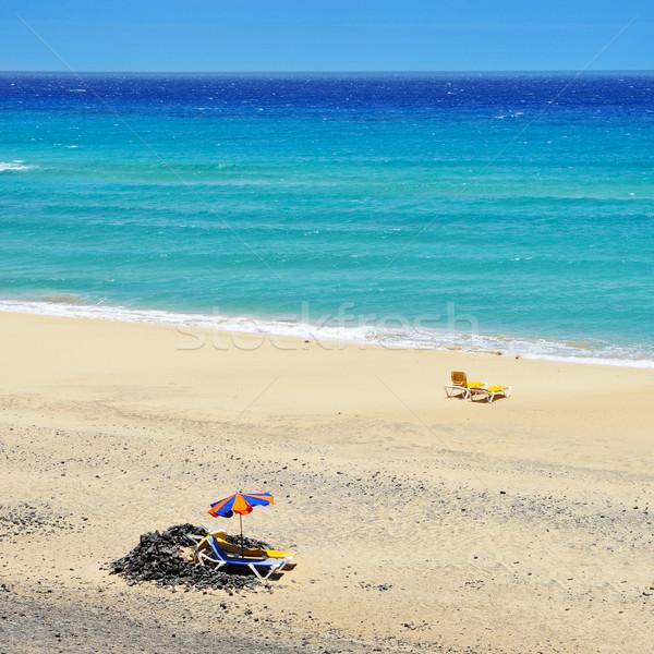 пляж Канарские острова Испания мнение солнце пейзаж Сток-фото © nito