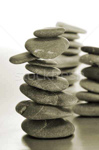 сбалансированный zen камней расслабиться черный энергии Сток-фото © nito