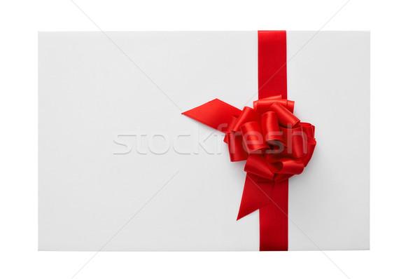 Boş kart yay bo beyaz mutlu Stok fotoğraf © nito