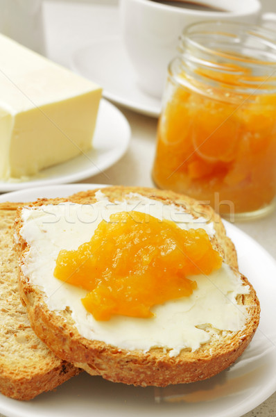 coffee, bread, butter and jam Stock photo © nito