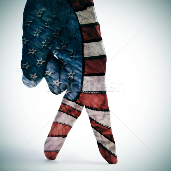 american flag walking Stock photo © nito