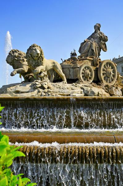 Fonte Madri Espanha ver popular água Foto stock © nito