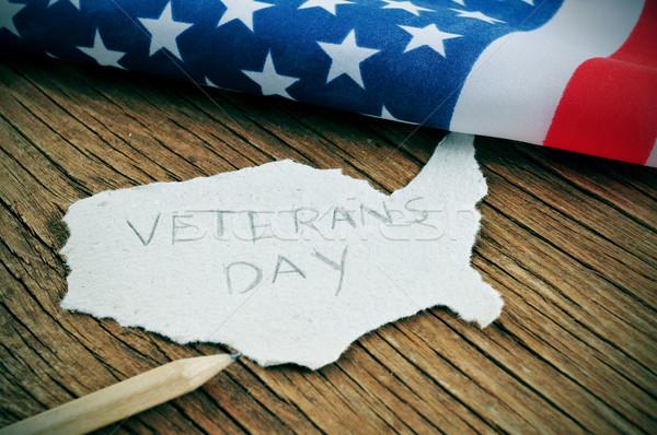 Giorno pezzo carta Stati Uniti parola Foto d'archivio © nito