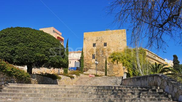 Passeig de Sant Antoni and Torre de Pilats, in Tarragona, Spain Stock photo © nito