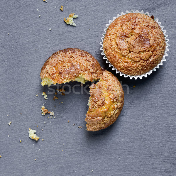 plain muffins on a slate background Stock photo © nito