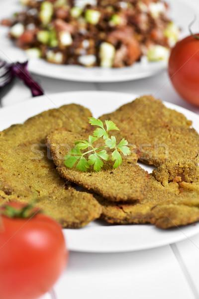 breaded fillets of seitan Stock photo © nito