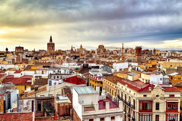 旧市街 バレンシア スペイン 屋根 大聖堂 ストックフォト © nito