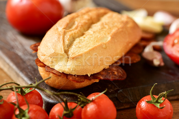 sandwich of Spanish chorizo Stock photo © nito