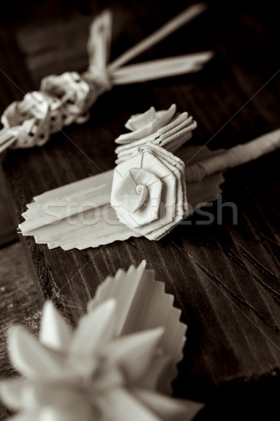 spanish braided palms for Palm Sunday Stock photo © nito