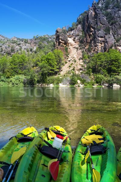 kayaks at the Ebro River in Benifallet, Spain Stock photo © nito