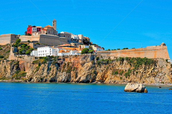 Dalt Vila, the old town of Ibiza Town, in Ibiza, Balearic Island Stock photo © nito