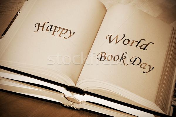 happy world book day Stock photo © nito