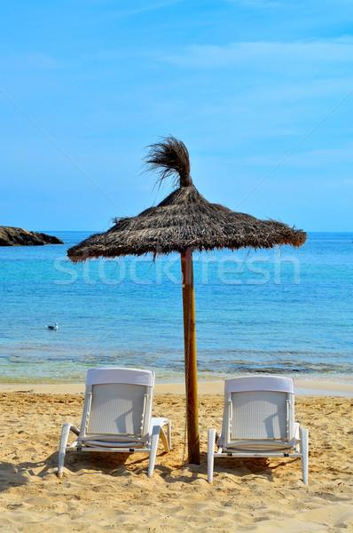 tropical beach in Formentera, Balearic Islands, Spain Stock photo © nito