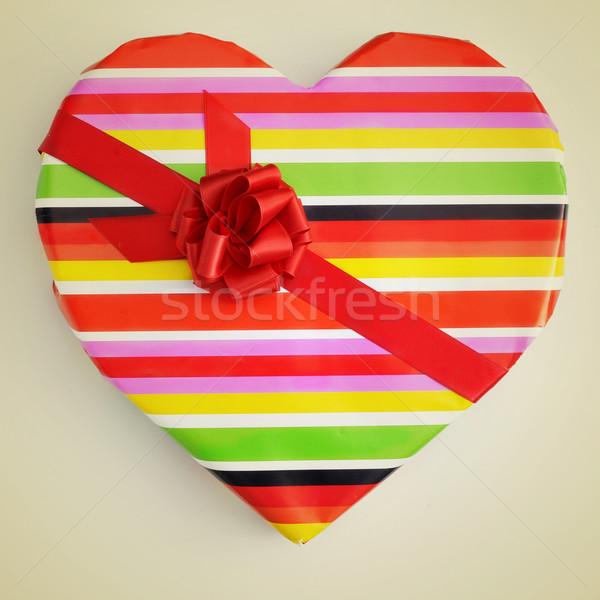 Dar papieru inny kolory beżowy Zdjęcia stock © nito