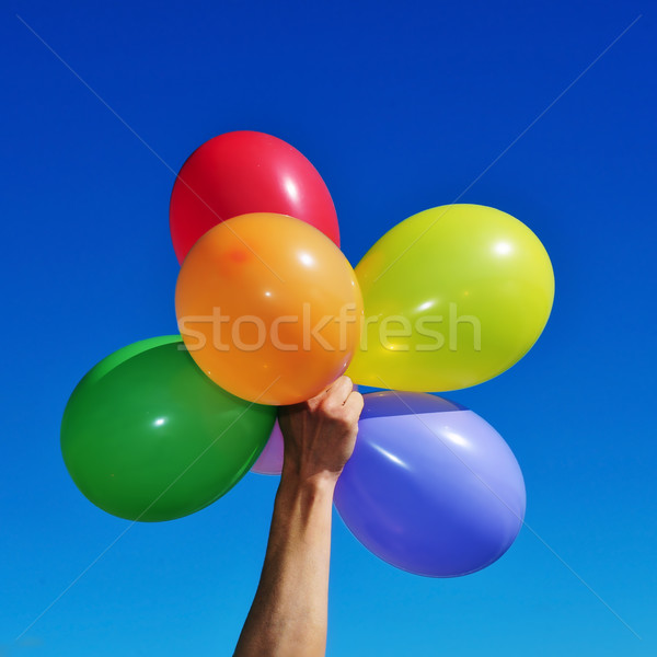 balloons of different colors Stock photo © nito