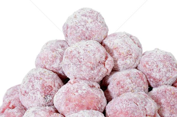 floured raw meatballs Stock photo © nito