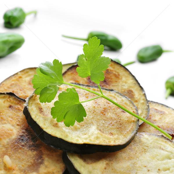 Melanzane chip primo piano piatto appetitoso Foto d'archivio © nito