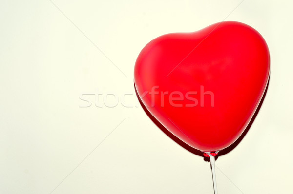 heart-shaped balloon against a white background Stock photo © nito