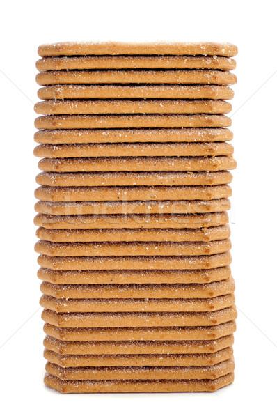 Fahéj sütik boglya étvágygerjesztő fehér háttér Stock fotó © nito