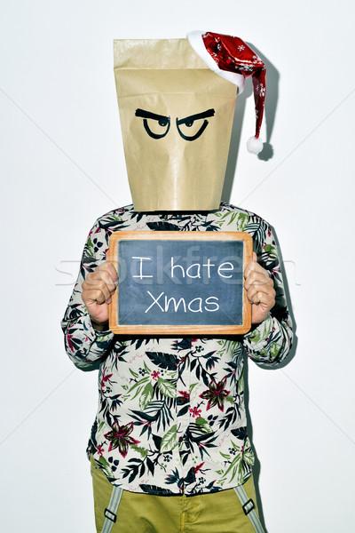 Joven Navidad aderezo casual desgaste Foto stock © nito