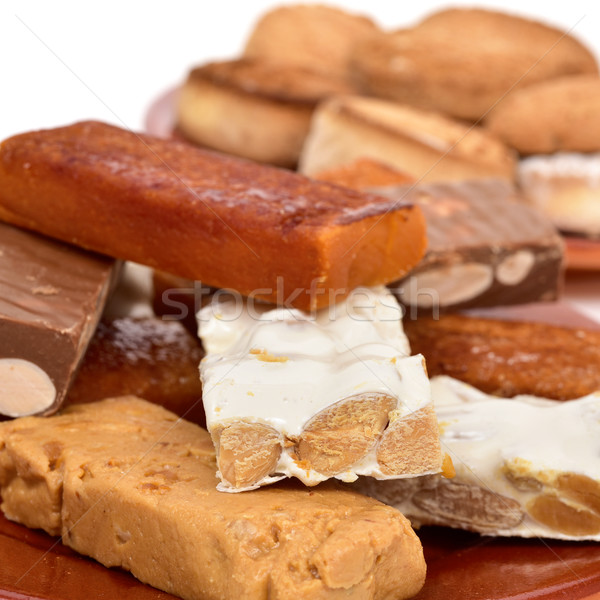 turron and mantecados, typical christmas sweets in Spain Stock photo © nito