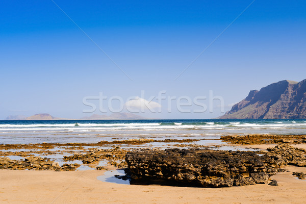Famara Beach in Lanzarote, Canary Islands, Spain Stock photo © nito